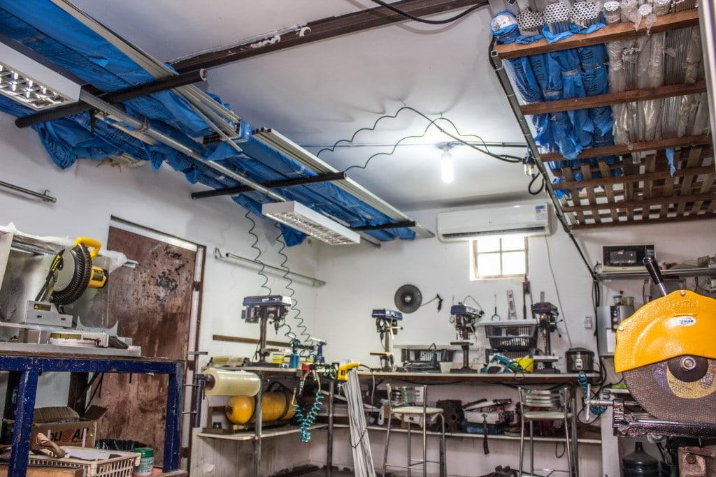 Foto da fábrica da Varal Inteligente em Camaçari.